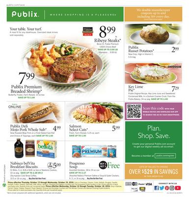Publix Weekly Ad Oct 12 - 18 2016