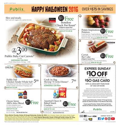 Publix Weekly Ad Oct 19 - 25 2016 Halloween