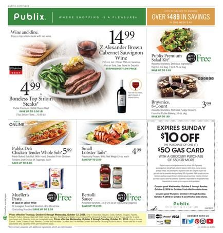 Publix Weekly Ad October 5 - 11 2016