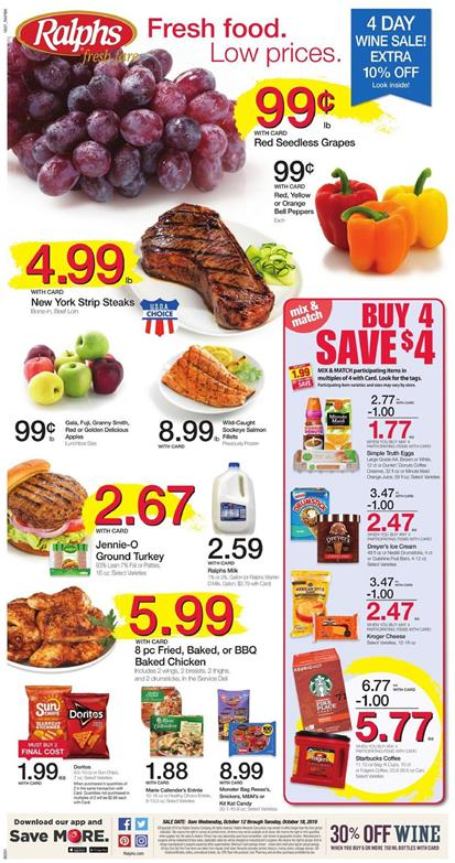 Ralphs Weekly Ad Oct 12 - 18 2016