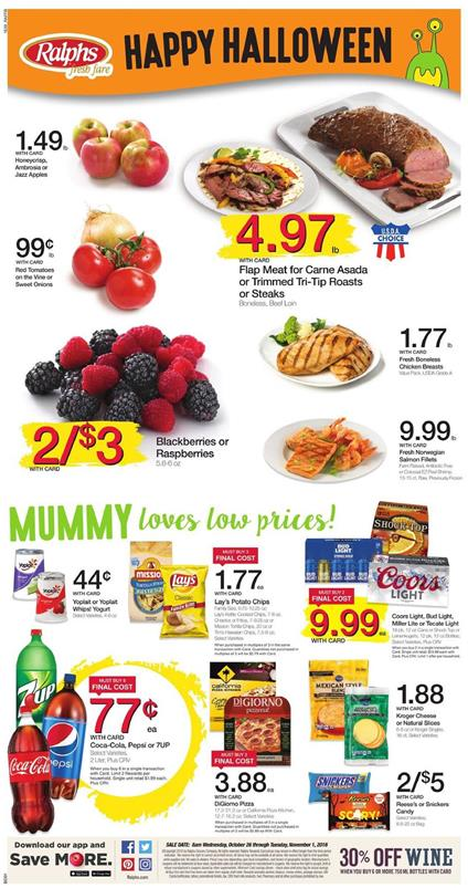Ralphs Weekly Ad Oct 26 - Nov 1 2016 Halloween