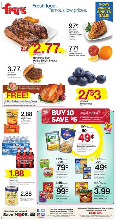 Fry's Weekly Ad Nov 9 - 15 2016