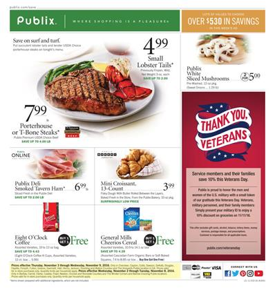 Publix Ad Menu For Your Lunch or Dinner Nov 2 - 8