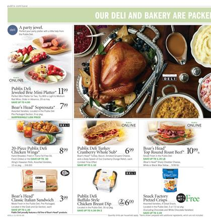 Publix Thanksgiving 2016 fully cooked turkey dinner