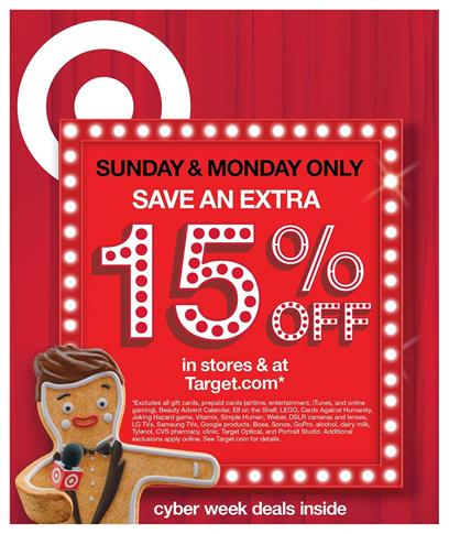 Target Ad Cyber Week Deals Nov 27 - Dec 3 2016