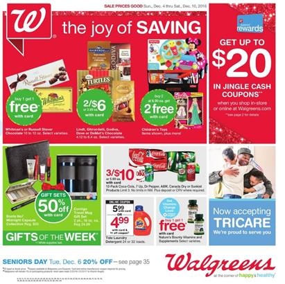 Walgreens Weekly Ad Holiday Deals Dec 4 - 10 2016