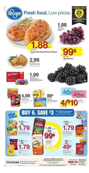 Kroger Weekly Ad Overview Jan 18 - 24 2017