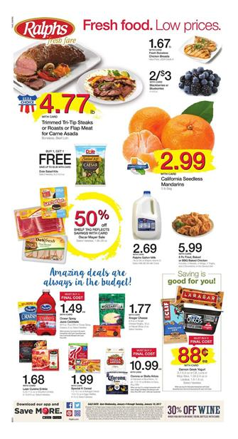 Ralphs Weekly Ad Deals January 4 - 10 2017