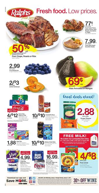 Ralphs Weekly Ad Overview Jan 15 - 21 2017