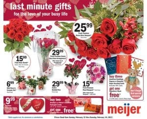 Meijer Ad Valentine's Day Feb 12 pg 1