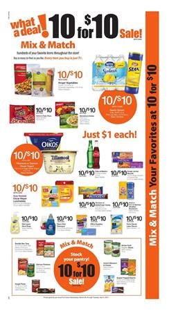Fry's Weekly Ad 10 for $10 Sale Mar 29 - Apr 4 2017