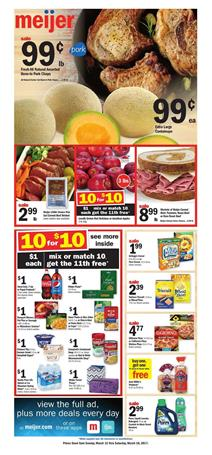 Meijer Weekly Ad Food Sale Mar 12 - 18 2017