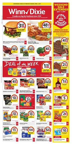 Winn Dixie Weekly Ad Mar 29 - Apr 4 2017
