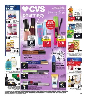 CVS Weekly Ad Beauty Deals April 16 - 22 2017