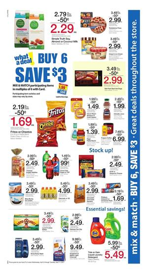 Fry's Weekly Ad Buy 6 Save $3 Deals April 5 - 11 2017