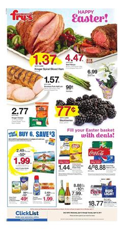 Fry's Weekly Ad Easter Deals April 12 - 18 2017