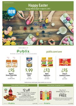 Publix Weekly Ad Extra Savings Easter Apr 1 - 21 2017