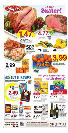 Ralphs Weekly Ad Easter Deals April 12 - 18 2017