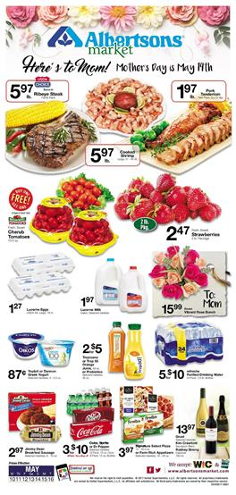 Albertsons Weekly Ad Mothers Day May 10 - 16 2017