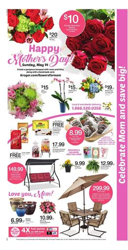 Kroger Weekly Ad Mothers Day May 10 - 16 2017