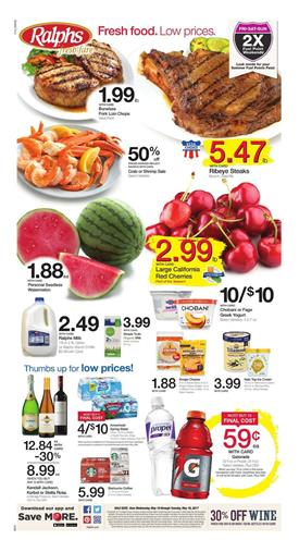 Ralphs Weekly Ad Grocery Deals May 10 - 16 2017