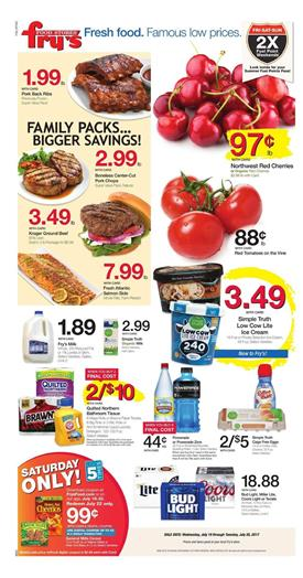 Fry's Weekly Ad Deals July 19 - 25 2017