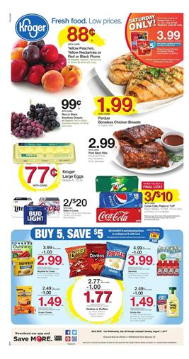 Kroger Weekly Ad Grocery July 26 - Aug 1 2017
