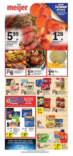 Meijer Weekly Ad Grocery July 30 - Aug 5 2017