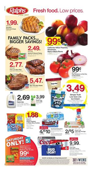 Ralphs Weekly Ad Deals July 23 - 29 2017