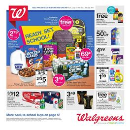 Walgreens Weekly Ad Deals July 23 - 29 2017