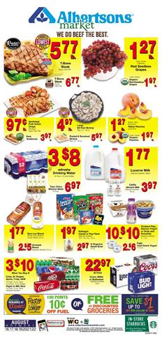 Albertsons Weekly Ad Deals Aug 16 - 22 2017