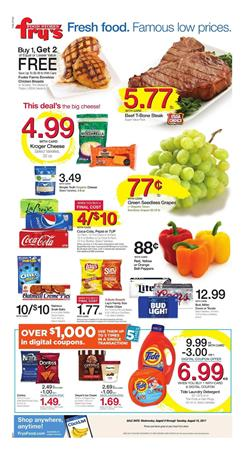 Fry's Weekly Ad Food August 9 - 15 2017