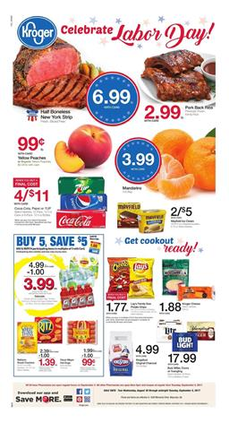 Kroger Weekly Ad Deals Aug 30 - Sep 5 2017
