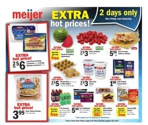 Meijer 2 Day Sale Ad Aug 25 - 26 2017 1