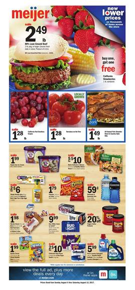 Meijer Weekly Ad Deals August 6 - 12 2017