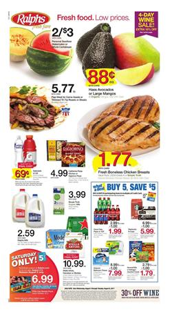 Ralphs Weekly Ad Deals Aug 2 - 8 2017
