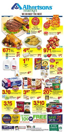 Albertsons Weekly Ad Deals Sep 27 - Oct 3 2017