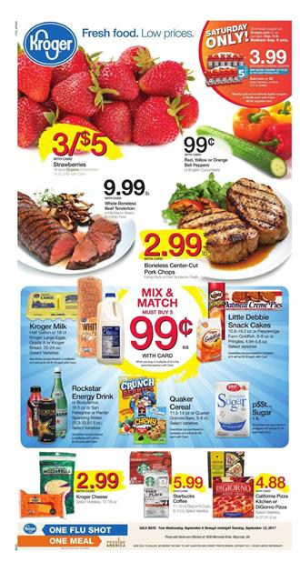 Kroger Weekly Ad Deals Sep 6 - 12 2017