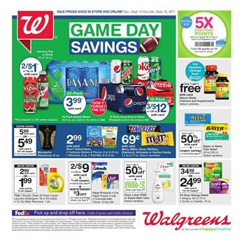 Walgreens Weekly Ad Game Day Sep 10 - 16 2017