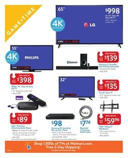 Walmart Ad Electronics Sep 1 - 16 2017