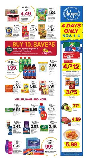 Kroger Ad Mix and Match Sale Buy 10, Save $5 2017