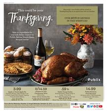 Publix Weekly Ad Thanksgiving Deals Nov 15 - 22, 2017
