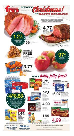 Fry's Weekly Ad Christmas December 20 - 26, 2017