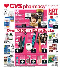 CVS Weekly Ad Deals January 21 - 27, 2018