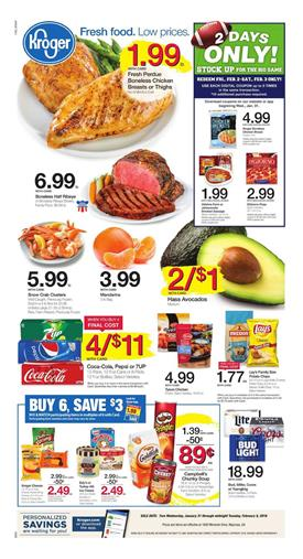 Kroger Weekly Ad Deals February 4 - 10, 2018