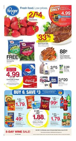 Kroger Weekly Ad Deals January 24 - 30, 2018
