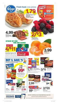 Kroger Weekly Ad Deals January 3 - 9, 2018