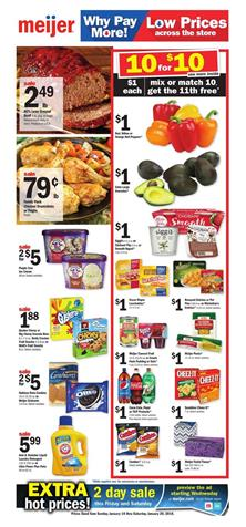 Meijer Weekly Ad Deals January 14 - 20, 2018