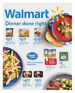 Walmart Weekly Ad Food Deals Jan 7 - Feb 1, 2018