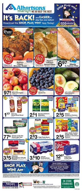 Albertsons Weekly Ad Deals February 14 20 2018